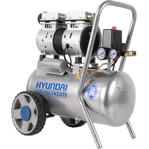 Compresor silencioso hyundai hyac24-1s de 1 cv y 24l de depósito