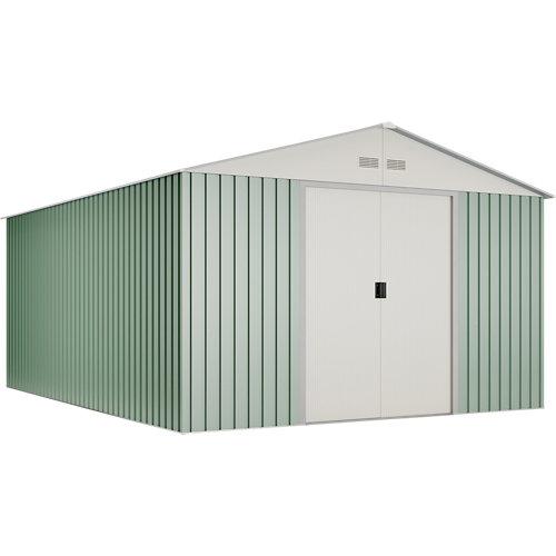 Caseta de metal anjala de 343x223x452 cm y 15.5 m2