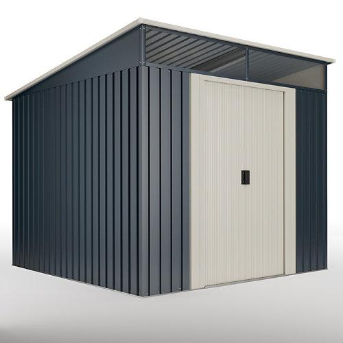 Caseta de metal caseta metal malmo ii 5,6 m2 de 238x203x236 cm y 5.6 m2
