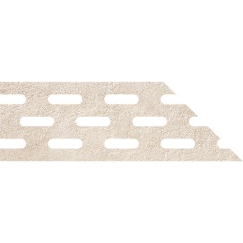 Borde de peldaño porcelana beige de 20x61x2 cm