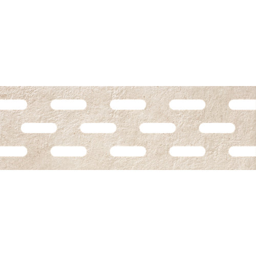 Borde de peldaño porcelana beige de 20 x 61 cm