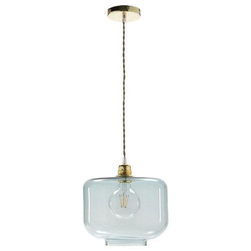 Lámpara de techo wali 1 luz e27 agua marina