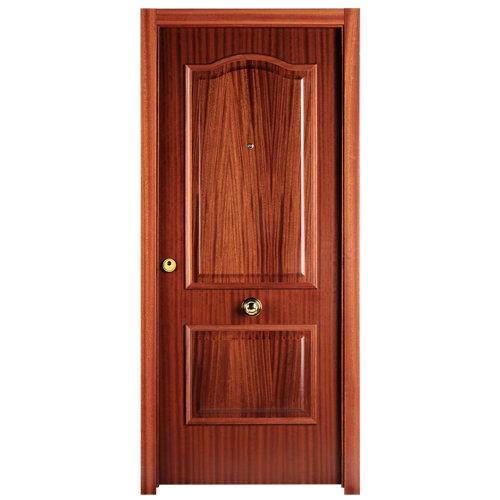Puerta de entrada blindada lisa derecha sapelly/sapelly de 85.7x205 cm