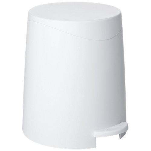 Papelera de baño milan blanco 3l