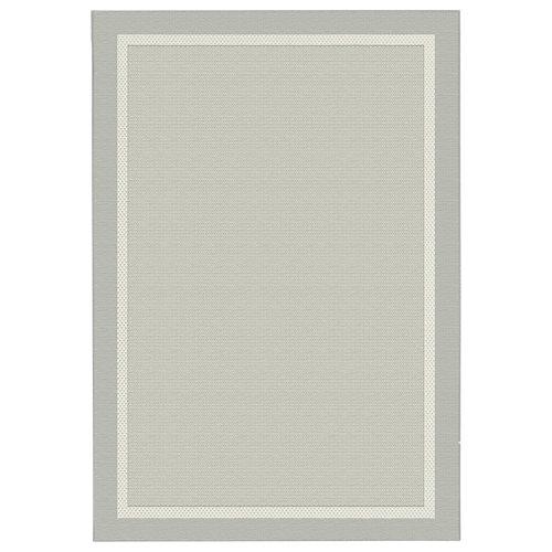 Alfombra gris polipropileno broadway 20427/332 140 x 200cm