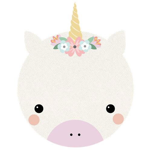 Alfombra rosa pvc unicornio 90 x 90cm