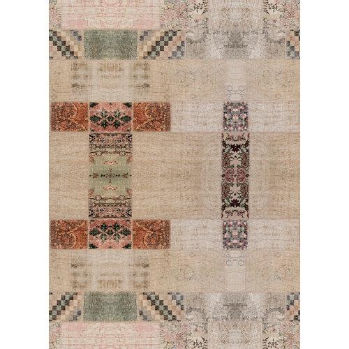 Alfombra marrón pvc marrakech 3839 195 x 300cm