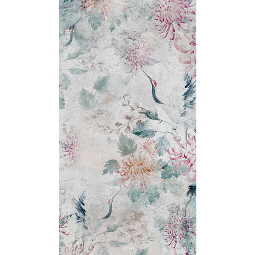 Alfombra gris pvc garza japonesa 3825 80 x 150cm