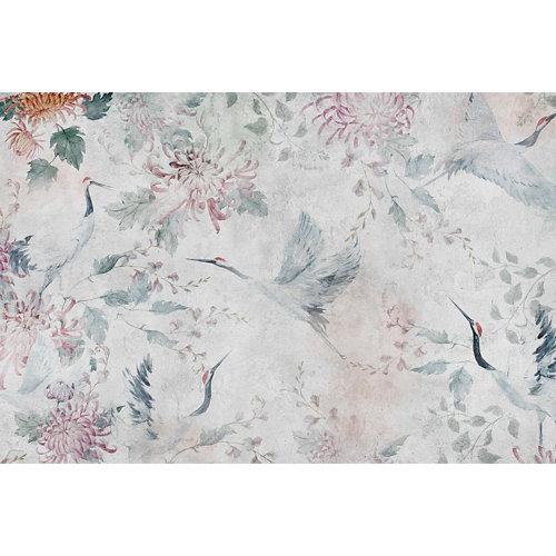 Alfombra gris pvc garza japonesa 3867 120 x 180cm