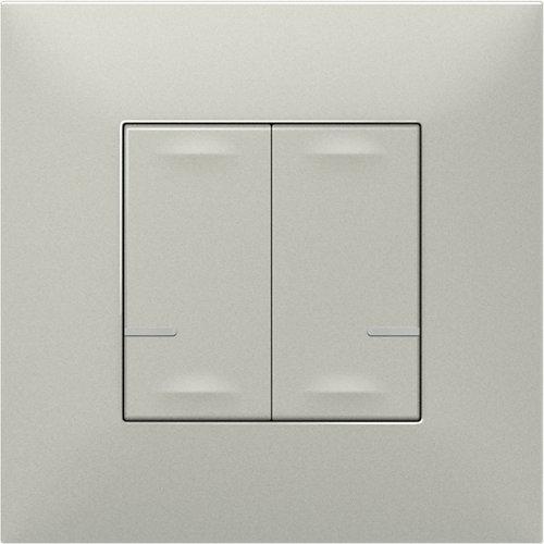 Interruptor doble legrand valena next netatmo aluminio
