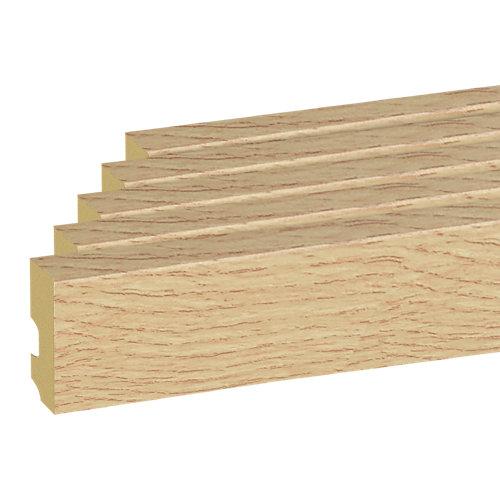 Pack 5 rodapiés cable mod040 10x225x1,5 cm