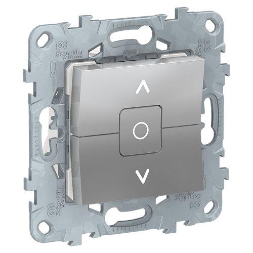 Interruptor de persianas schneider new unica aluminio