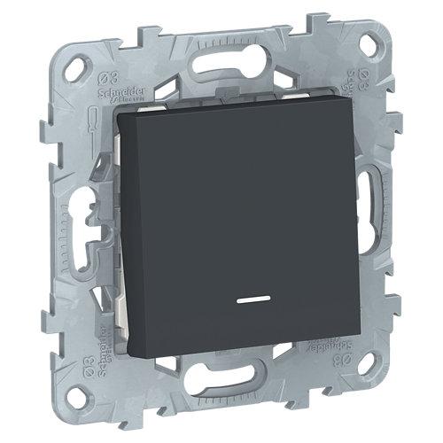 Interruptor con piloto schneider new unica antracita