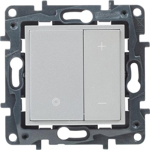 Regulador + pulsador legrand niloé step aluminio