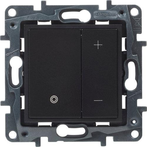 Regulador + pulsador legrand niloé step negro