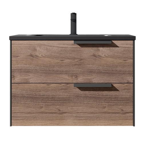 Mueble de baño bali antracita 80 x 45 cm