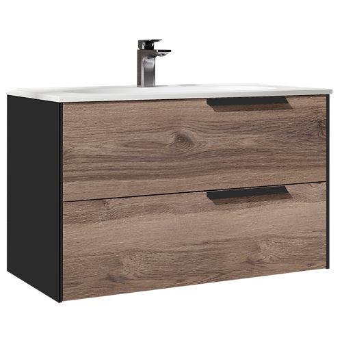 Mueble de baño bali antracita 100 x 45 cm