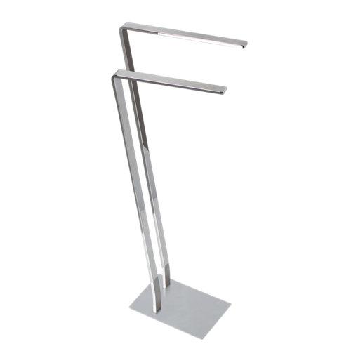 Toallero de pie oslo gris / plata brillante 28x85 cm