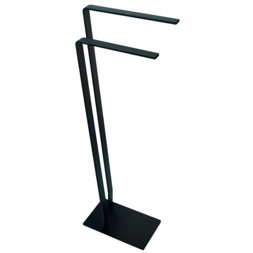 Toallero de pie oslo negro mate 28x85 cm
