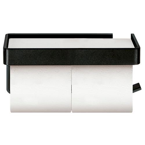 Portarollo wc turín negro mate 21x8x13 cm