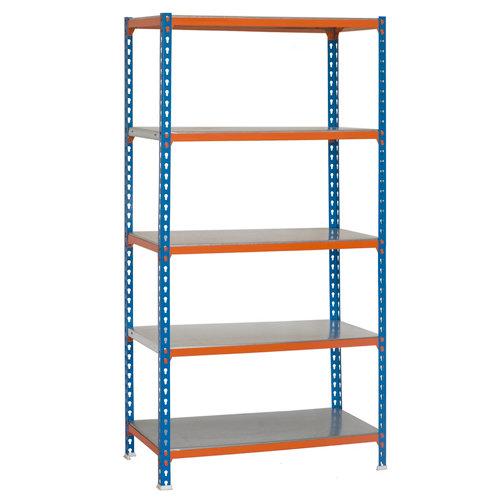 Estanteria sin tornillos simonclick azul/naranja 5/40