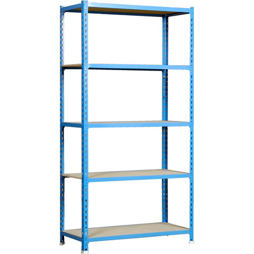 Estanteria sin tornillos metalica maderclick azul 5/30