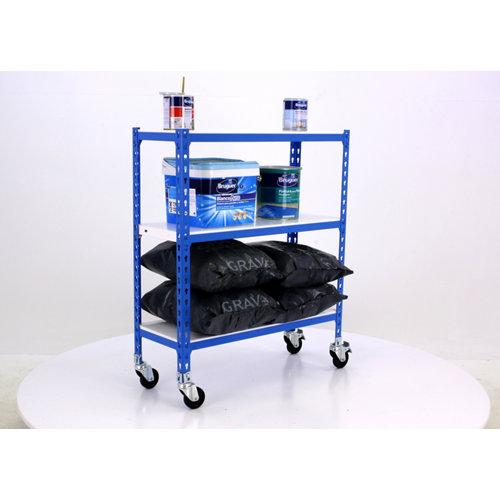 Estanteria sin tornillos metalica simonclick movil azul 3/40
