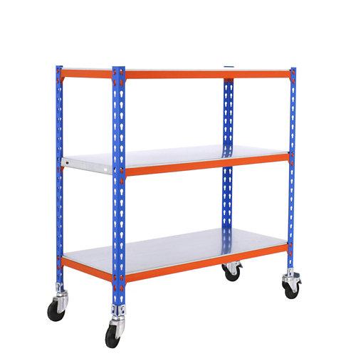 Estanteria sin tornillos simonclick azul/naranja splus 3/50