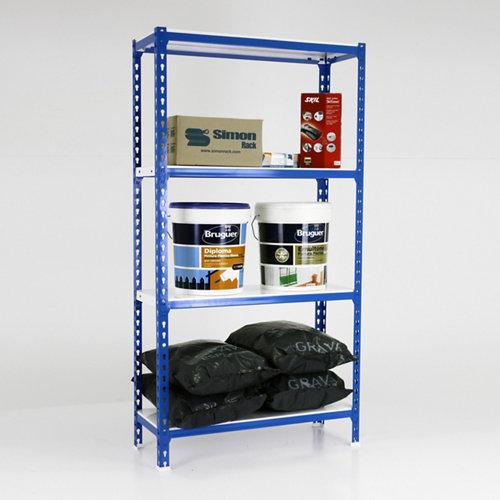 Estanteria sin tornillos metalica simonclick azul mini 4/40