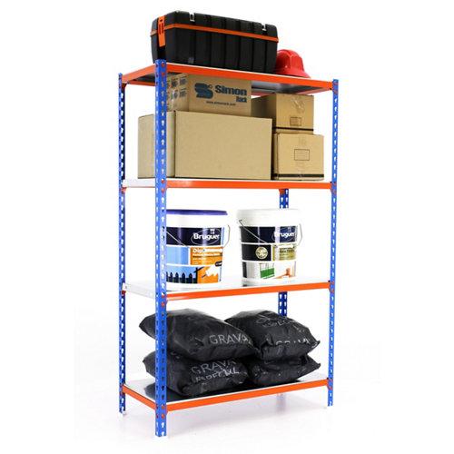 Estanteria sin tornillos simonclick azul/naranja splus 4/50