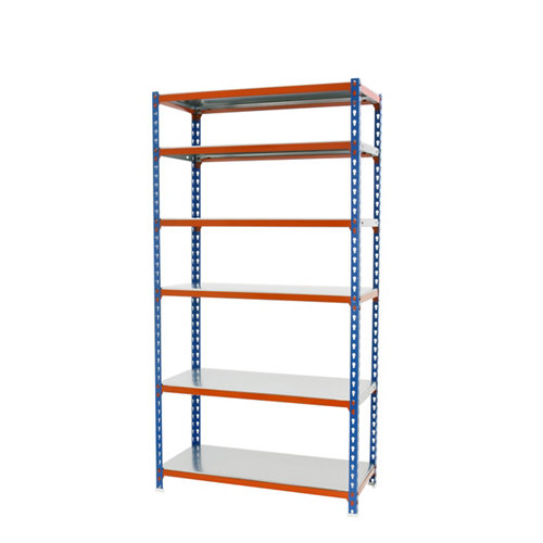 Estanteria sin tornillos simonclick azul/naranja mini 6/50