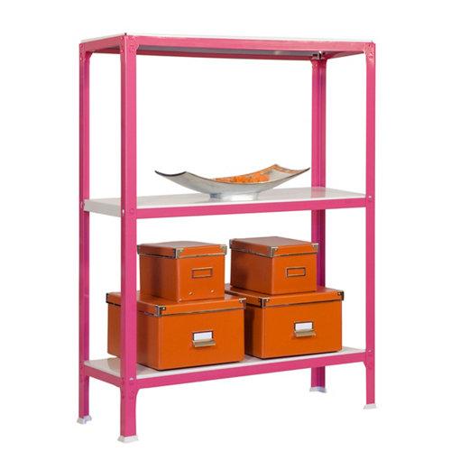 Estanteria sin tornillos homeclick rosa mini 3/40