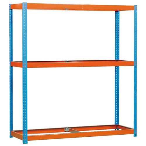 Estanteria simonforte 3 azul/naranja/galva 200x240x90cm