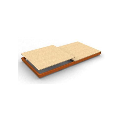Estante adicional ecoforte naranja madera 180x45x4,2cm