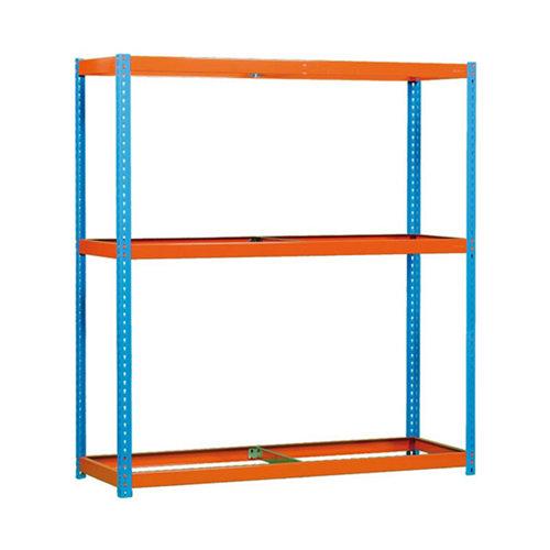 Estanteria sin baldas ecoforte 3 azul/naranja 200x120x45cm