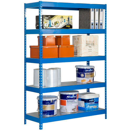 Estanteria bricoforte metal azul/galva 200x120x60cm