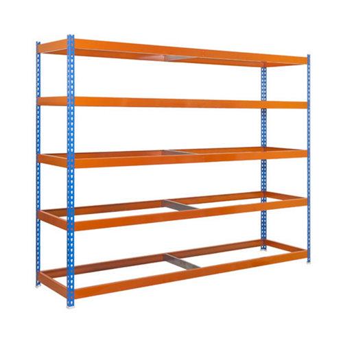 Estanteria sin baldas simonforte azul/naranja 200x240x60cm