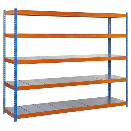Estanteria simonforte 5 azul/galva 200x180x45cm