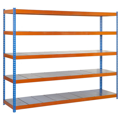 Estanteria ecoforte azul/naranja/galva 200x150x60cm