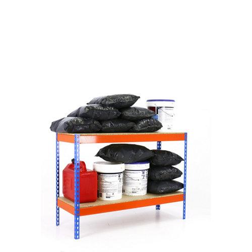 Estanteria ecoforte azul/naranja/madera 90x150x60cm