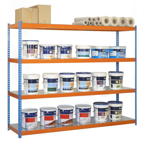Estanteria ecoforte azul/naranja/galva 175x150x45cm