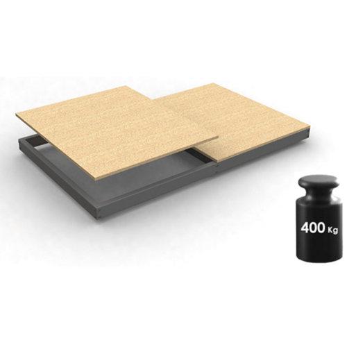 Estante adicional ecoforte gris/madera 180x60x4,2cm