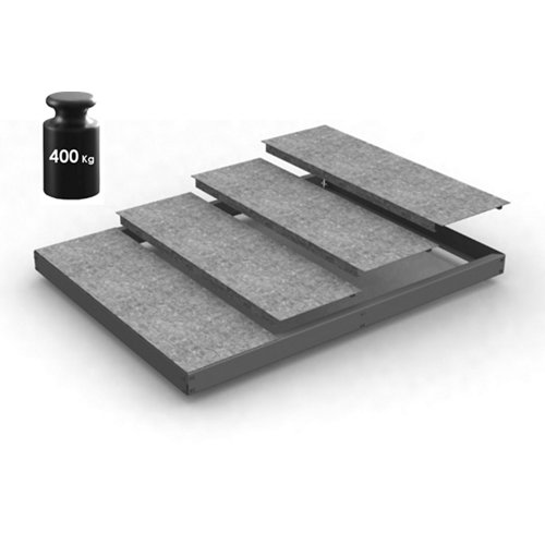 Estante adicional ecoforte gris/galva 180x45x4,2cm