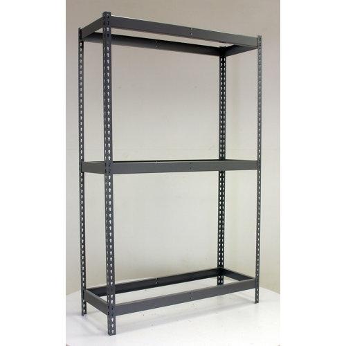 Estantería metálica en kit de acero de 60x120 cm y carga max. 400 kg por balda