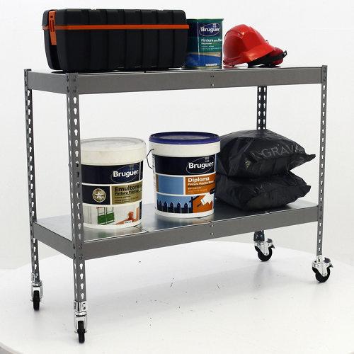 Estantería metálica en kit de acero de 75x90 cm y carga max. 280 kg por balda