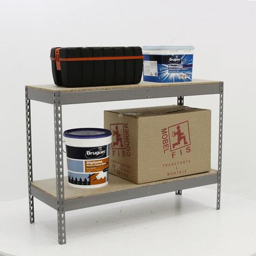 Estantería metálica en kit de acero de 45x90 cm y carga max. 400 kg por balda