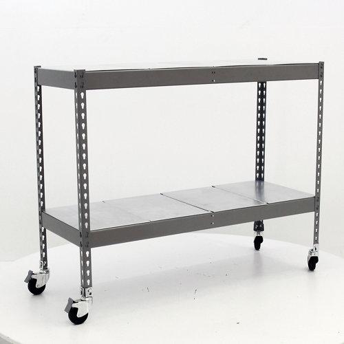 Estantería metálica en kit de acero de 75x150 cm y carga max. 280 kg por balda