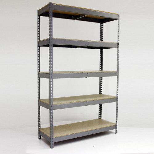 Estantería metálica en kit de acero de 75x150 cm y carga max. 600 kg por balda