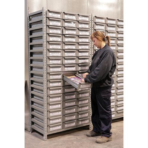 Cajonera cabinet box gris 21 puertas 87x90x50 cm