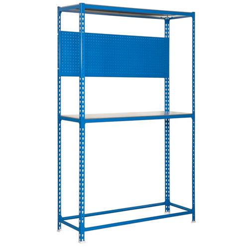 Estanteria simonracing plus azul con cajon 200x100x40cm